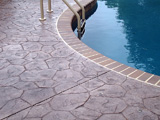 Stamped Concrete Pool Deck by Glavas Concrete Salem, Roanoke, Blacksburg, Lynchburg