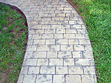 Stamped Concrete Sidewalk by Glavas Concrete Salem, Roanoke, Blacksburg, Lynchburg